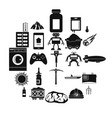 software icons set simple style vector image vector image