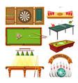 sport game darts billiards pool tennis or vector image vector image
