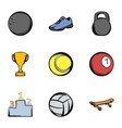 sport training icons set cartoon style vector image vector image
