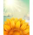 Sunflower with clouds EPS 10 vector image