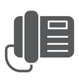 telephone glyph icon call and communication vector image vector image