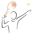 Tennis serve vector image vector image