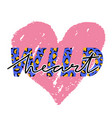 with wild heart slogan with leopard skin t-shirt vector image vector image
