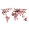 World map of business word cloud tags vector image vector image