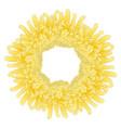 yellow chrysanthemum flower wreath vector image vector image
