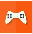 Joystick web icon Flat design vector image