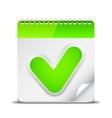 Calendar Icon with Check Mark Symbol vector image