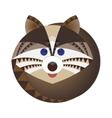 Head of raccoon decorative geometric stylization vector image