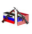 russia usa and syria break vector image