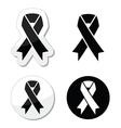 Black ribbon - mourning death melanoma symbol