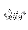 2019 happy chinese new year of the pig vector image vector image