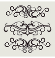 7floral line 61 1 vector image vector image