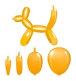 animal balloon action pose orange vector image