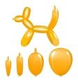 animal balloon action pose orange vector image