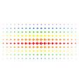 arrow left spectrum halftone array vector image vector image