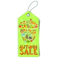 autumn sale tag vector image vector image