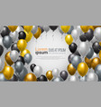 balloons decoration for party celebration or vector image