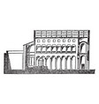 basilica of st agnese section of basilica at rome vector image vector image