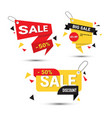 big sale banners set special offer template tags vector image vector image