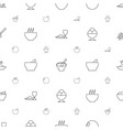 bowl icons pattern seamless white background vector image vector image