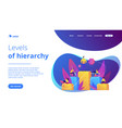 business hierarchy concept landing page vector image