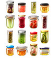 canned food set vector image vector image