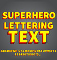 cartoon style font vector image vector image