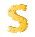cheese letter S vector image vector image