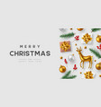 christmas horizontal banner vector image vector image