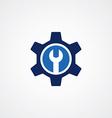 Cog Settings Icon Symbol vector image vector image