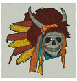 colorful indian skull mask poster vector image vector image