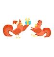 Cute cartoon rooster vector image