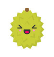 cute smiling exotic durian isolated colorful vector image vector image