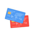 debit credit card bank design template realistic vector image vector image