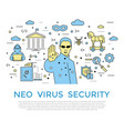 digital color internet security vector image vector image