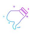 dislike icon design vector image