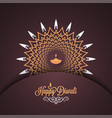 diwali vintage card design background vector image vector image