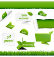 ecology green set vector image vector image