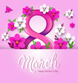 elegant eight number womens day 8 march holiday
