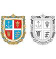 Emblem of the Ukrainian city vector image