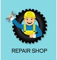 emblem repair shop vector image