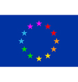European Gay Flag vector image