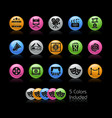 film industry and theater icons gelcolor series vector image vector image