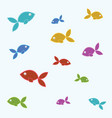 fish tile vector image