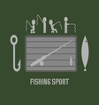 Fishing Club Badge vector image