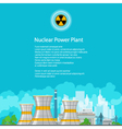 Flyer Nuclear Power Plant vector image vector image