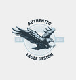flying eagle emblem vector image vector image