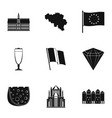 ger icons set simple style vector image