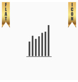 Graph chart sign icon Diagram symbol Statistics vector image vector image