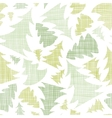 Green Christmas trees silhouettes textile seamless vector image vector image